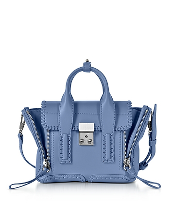 Pashli Periwinkle Leather Mini Satchel Bag