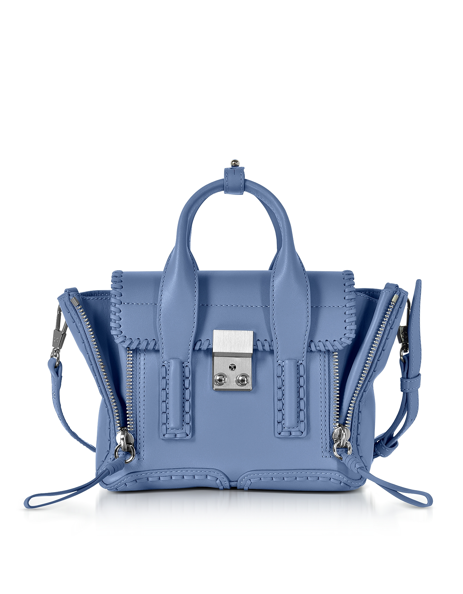 3.1 Phillip Lim Handbags, Pashli Periwinkle Leather Mini Satchel Bag