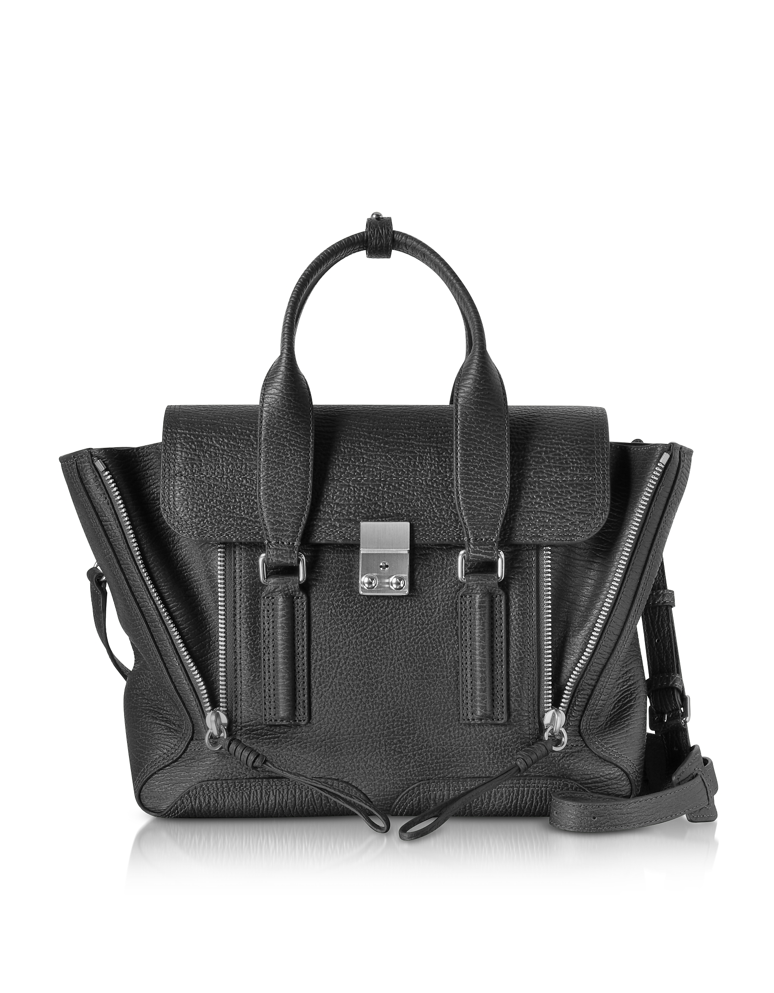3.1 Phillip Lim Handbags, Black-Nickel Pashli Medium Satchel