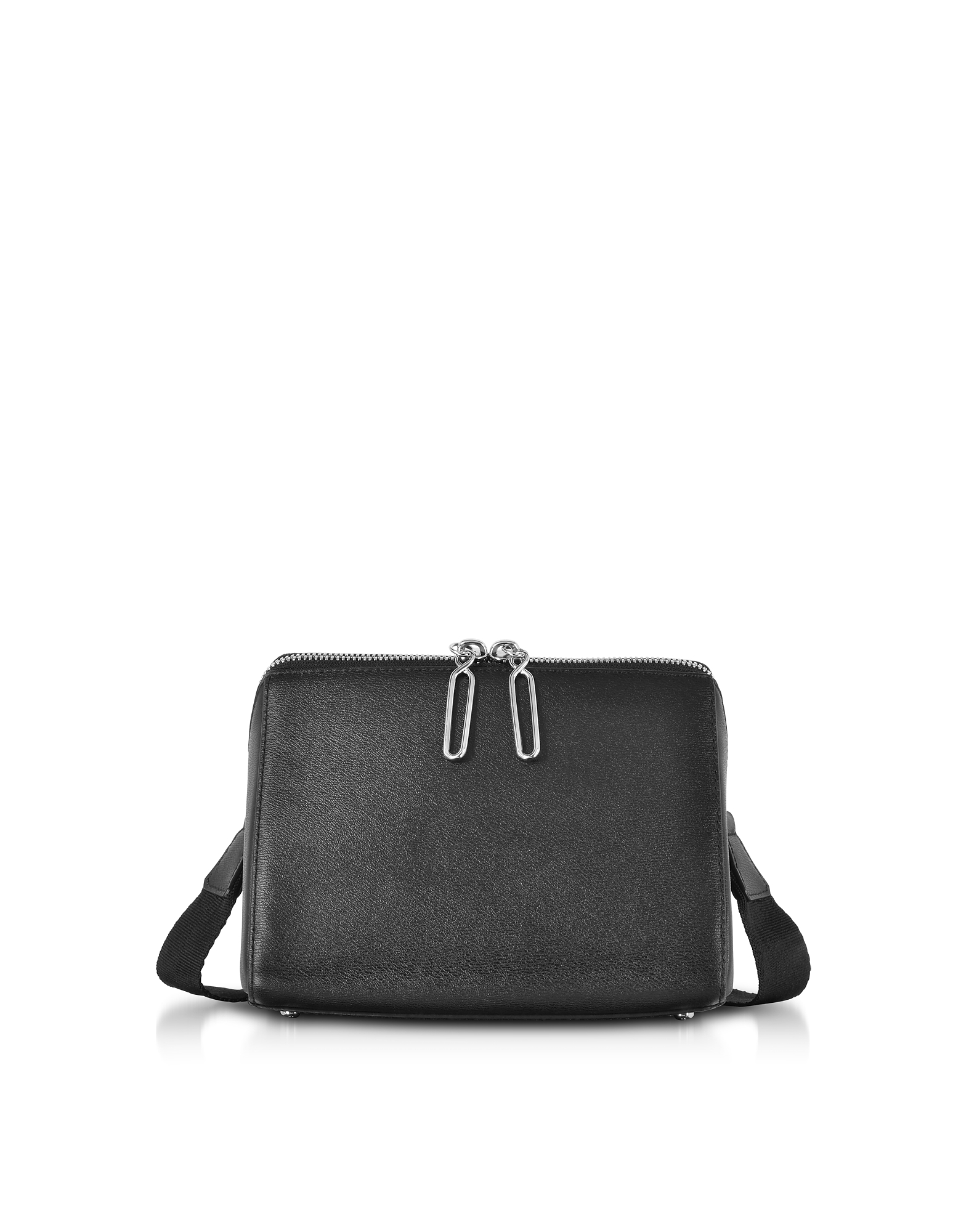 Image of 3.1 Phillip Lim Designer Handbags, Black Leather Ray Triangle Crossbody Bag