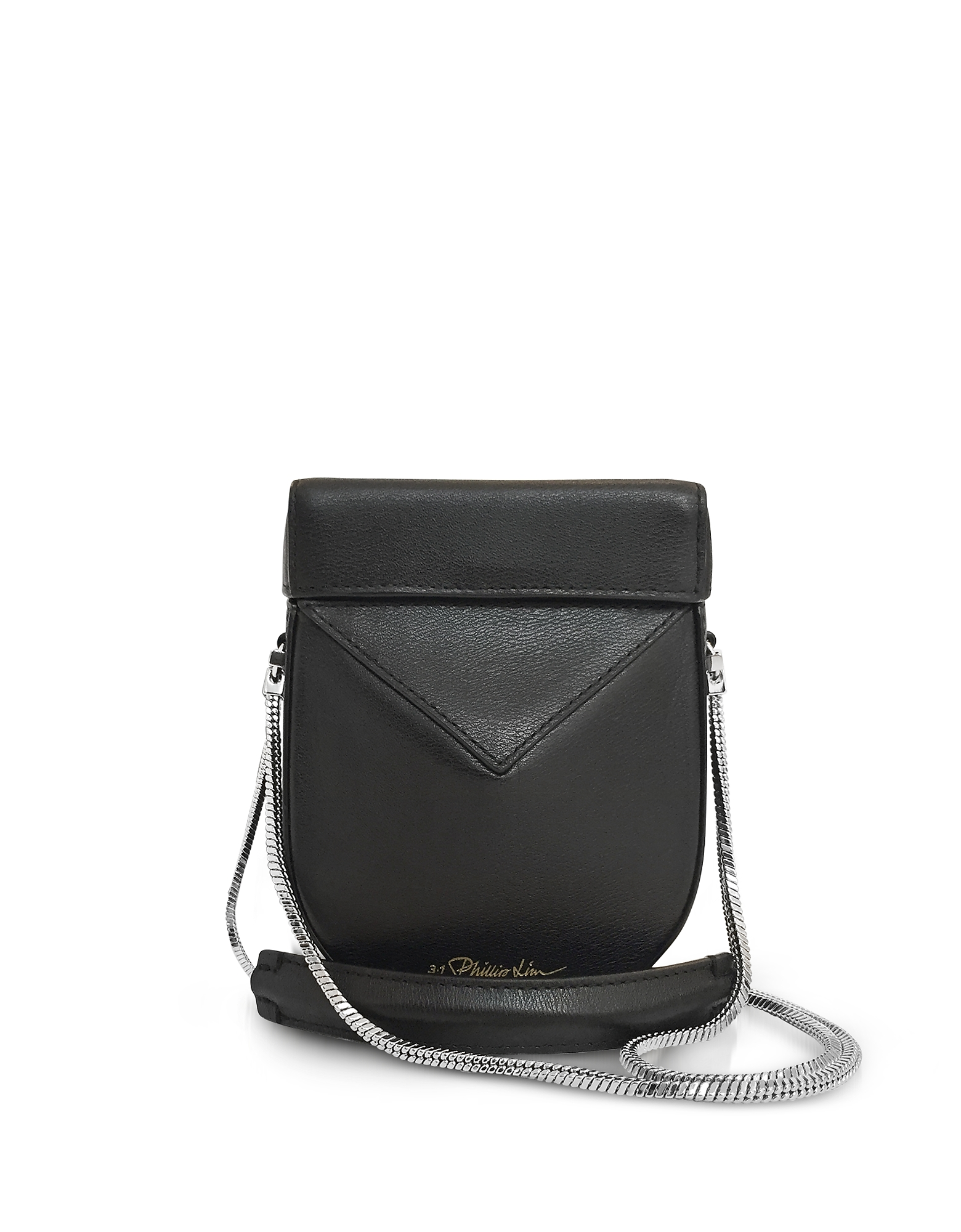 Black Leather Soleil Mini Case