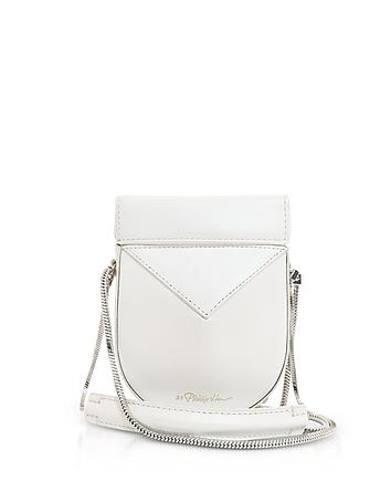 3.1 Phillip White Leather Soleil Mini Case