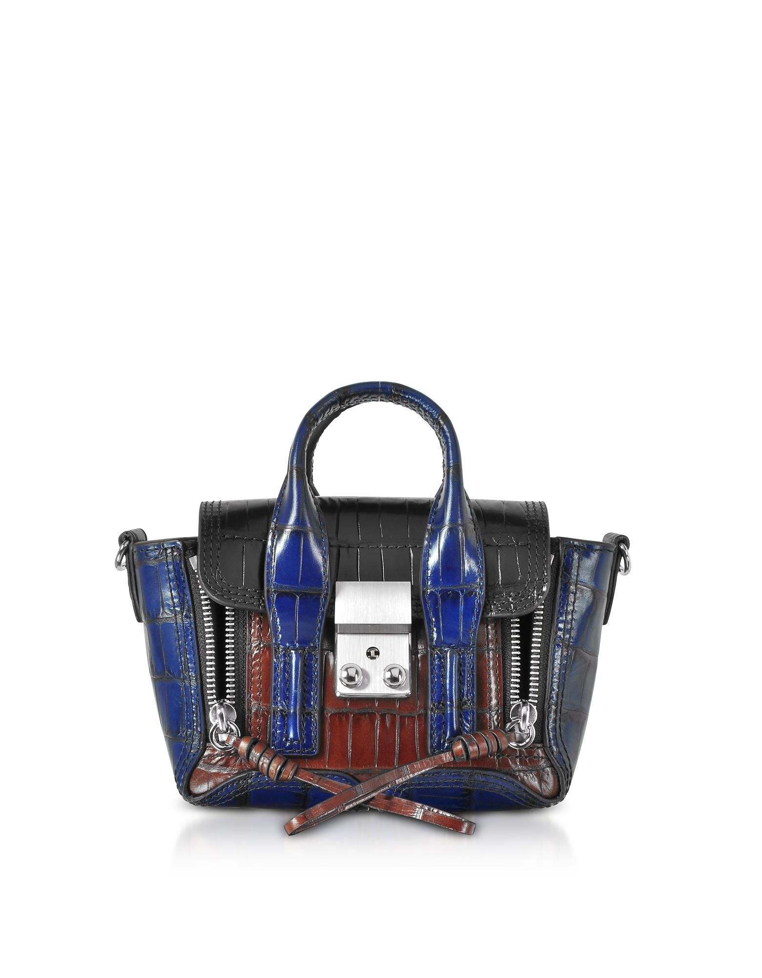 3.1 Phillip Lim Handbags, Croco Leather Pashli Nano Satchel
