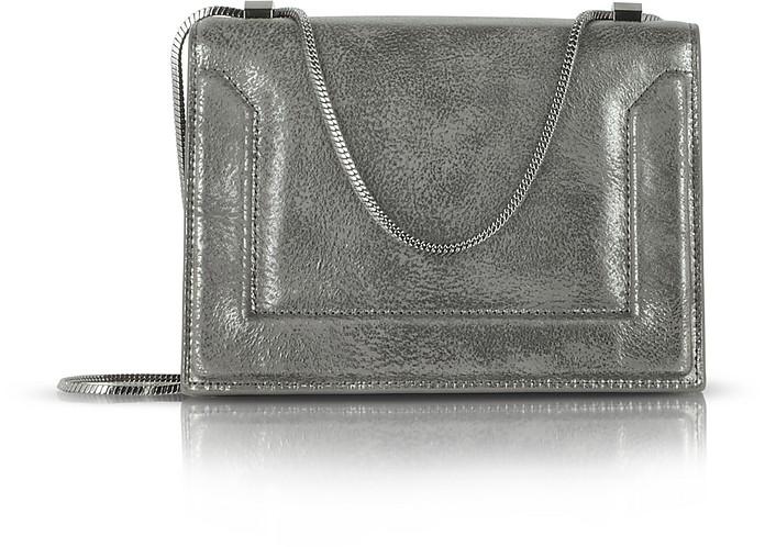 Gunmetal Metallic Leather Soleil Chain Shoulder Bag - 3.1 Phillip Lim