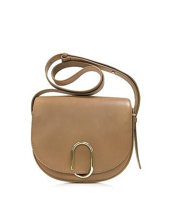 Alix Camel Leather Saddle Crossbody Bag