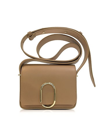 Alix Camel Leather Flap Mini Crossbody Bag