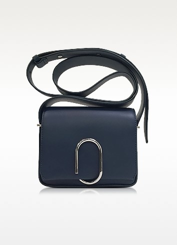 Alix Navy Leather Flap Mini Crossbody Bag - 3.1 Phillip Lim