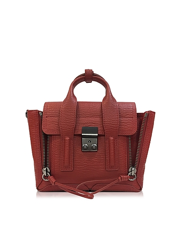 Pashli Brick Leather Mini Satchel