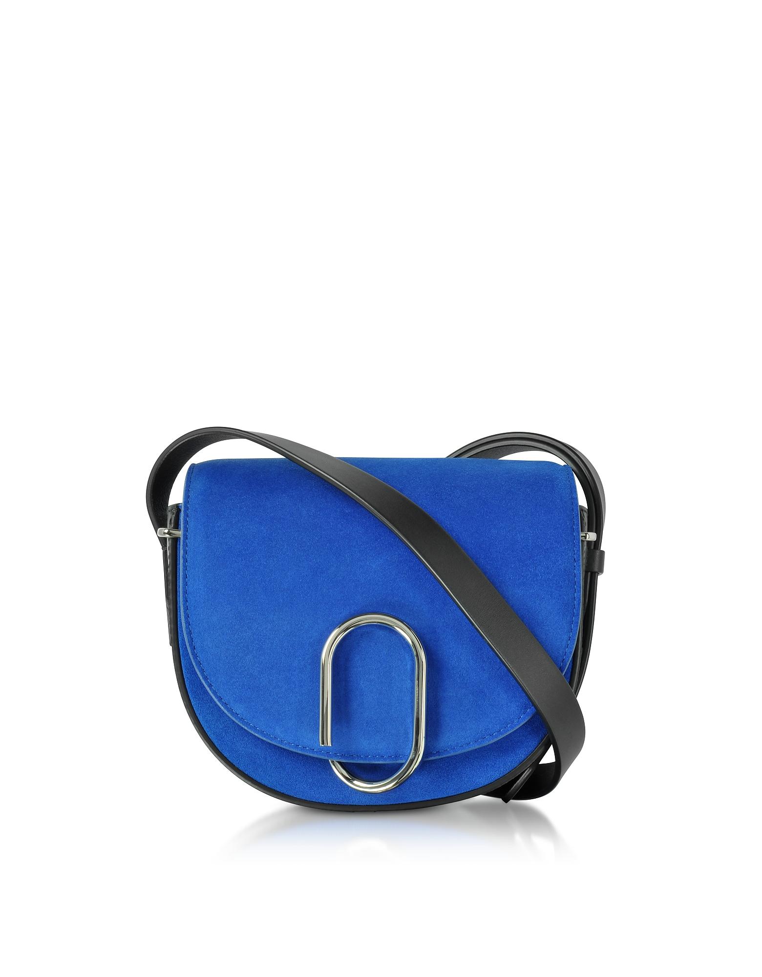 3.1 Phillip Lim Handbags, Electric Blue Suede Alix Mini Saddle Bag