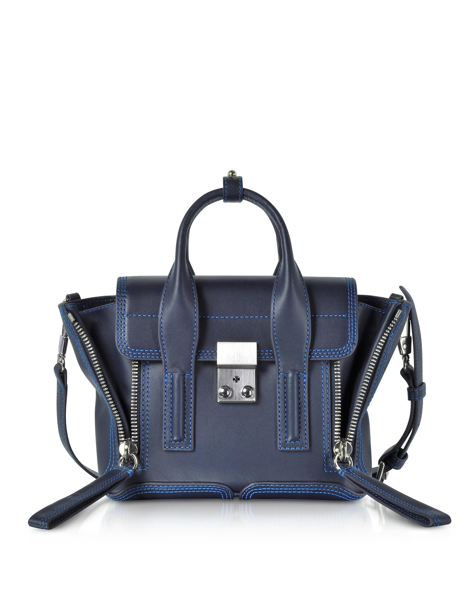 3.1 Phillip Lim Handbags, Navy & Electric Blue Pashli Mini Satchel