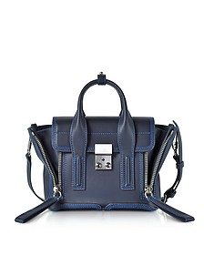Navy & Electric Blue Pashli Mini Satchel  - 3.1 Phillip Lim