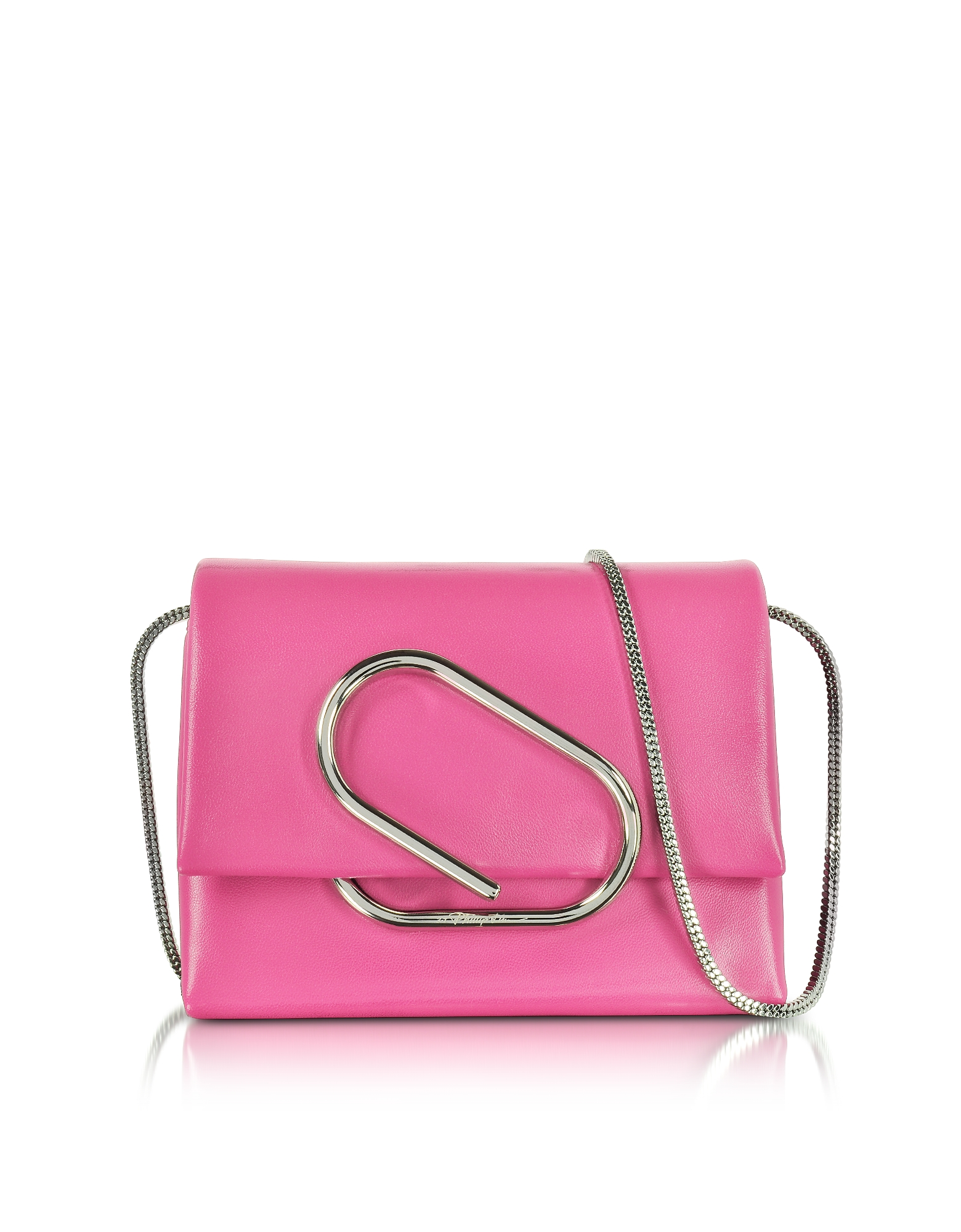 Alix Micro Clutch in Pelle Candy Pink
