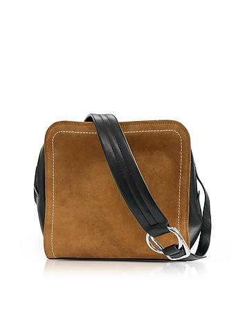 3.1 Phillip Lim Black Leather and Cinnamon Suede Hudson Square Crossbody Bag