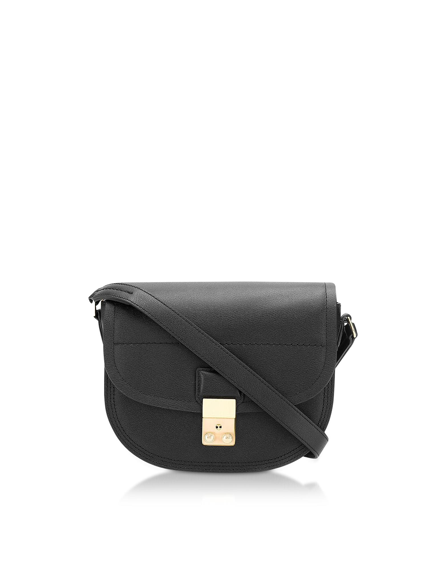 Pashli Saddle Bag, Black
