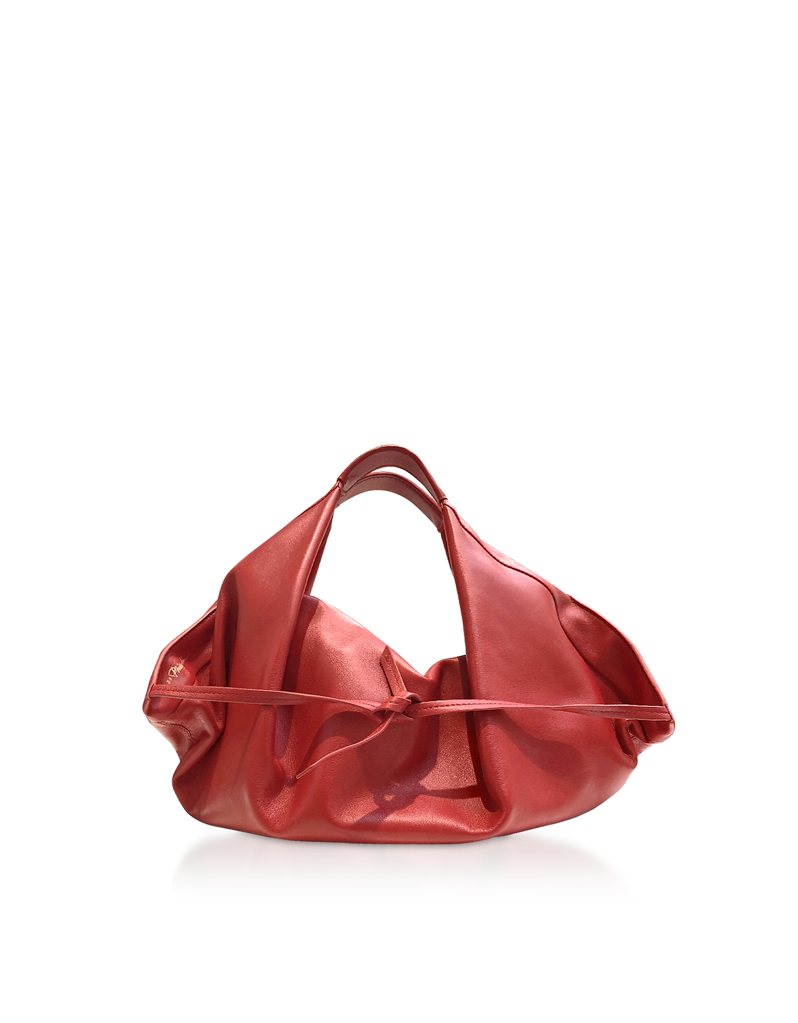 Scarlet Leather Luna Mini Slouchy Hobo Bag