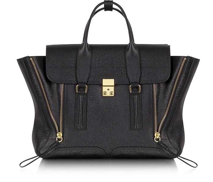 Pashli Black Embossed Leather Satchel - 3.1 Phillip Lim