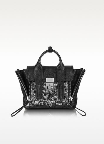 Pashli Black Embossed Leather Mini Satchel - 3.1 Phillip Lim