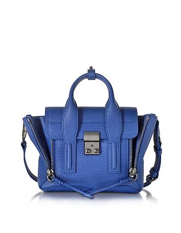 3.1 Phillip Lim Pashli Mini Borsa in Pelle Blu Cobalto