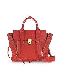 Red Leather Pashli Medium Satchel - 3.1 Phillip Lim