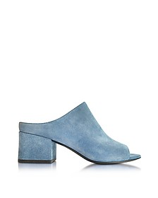 Mule Open-Toe-Slipper aus blauem Wildleder  - 3.1 Phillip Lim