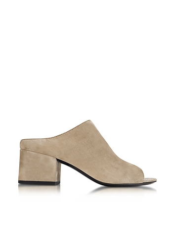 Fawn Suede Cube Mule