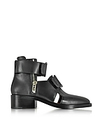 3.1 Phillip Lim Addis Cut Out Boot aus schwarzem Leder hp430117-004-02