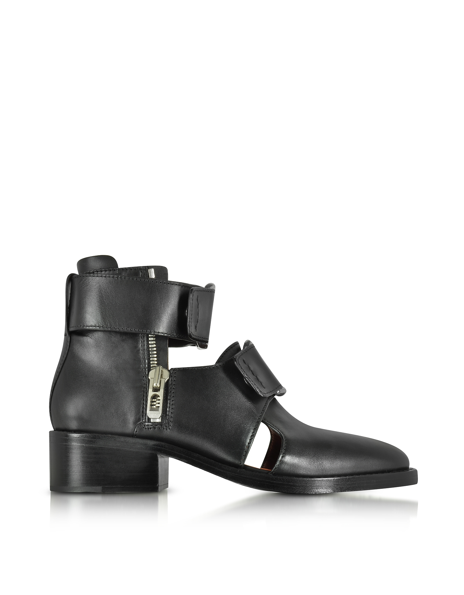 3.1 Phillip Lim Shoes, Black Leather Addis Cut Out Boot