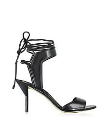 Martini Black Leather Ankle Lace Mid Heel Sandal - 3.1 Phillip Lim