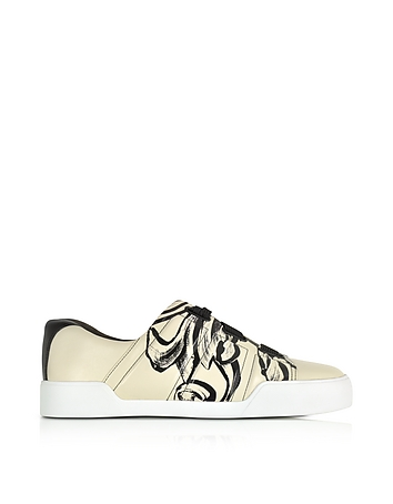 Morgan Off White Leather Low Top Sneaker