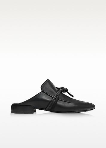 Louie Black Leather Mule - 3.1 Phillip Lim