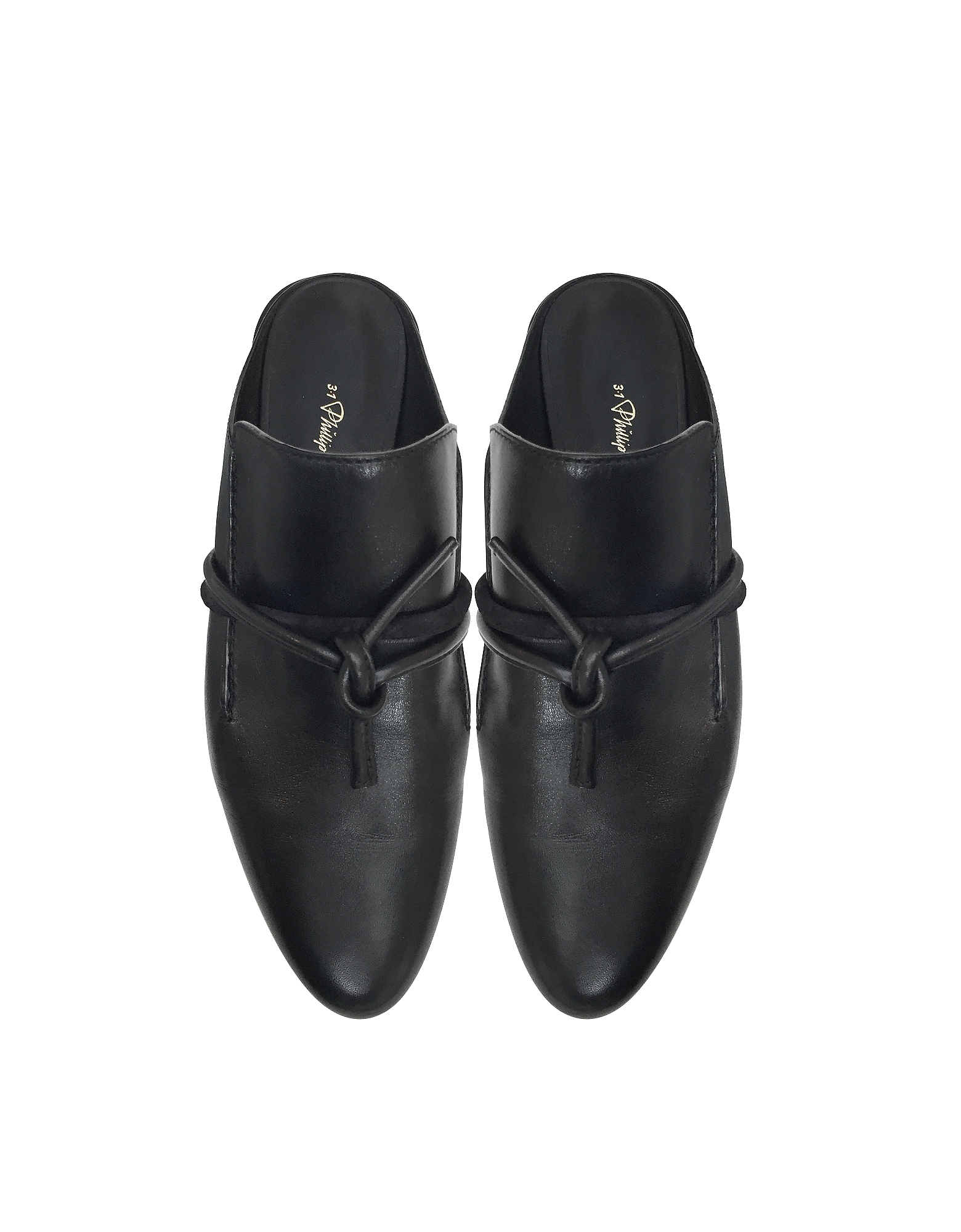 Louie Black Leather Mule от Forzieri INT