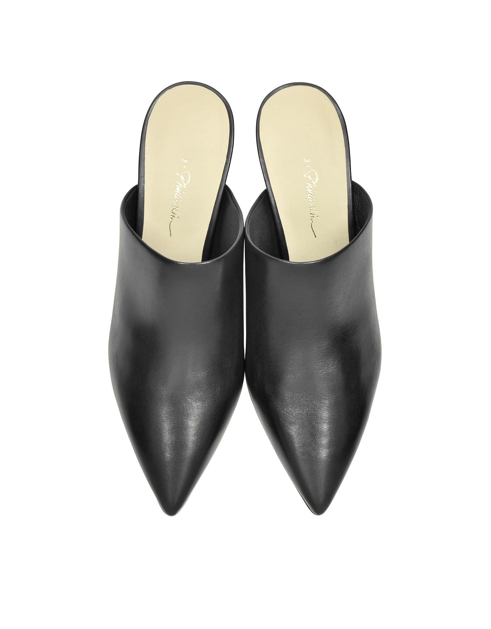 Martini Black Leather Mule от Forzieri.com INT