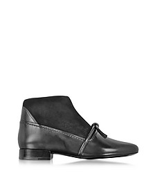 Louie Black Leather and Suede Ankle Bootie w/Knot - 3.1 Phillip Lim