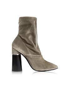 Kyoto Olive Velvet Stretch High Heel Ankle Boots - 3.1 Phillip Lim