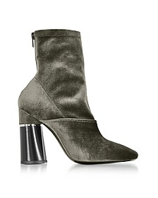 Kyoto Olive Velvet Stretch High Heel Ankle Boots - 3.1 Phillip Lim
