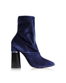 Kyoto Royal Blue Velvet Stretch High Heel Ankle Boots - 3.1 Phillip Lim