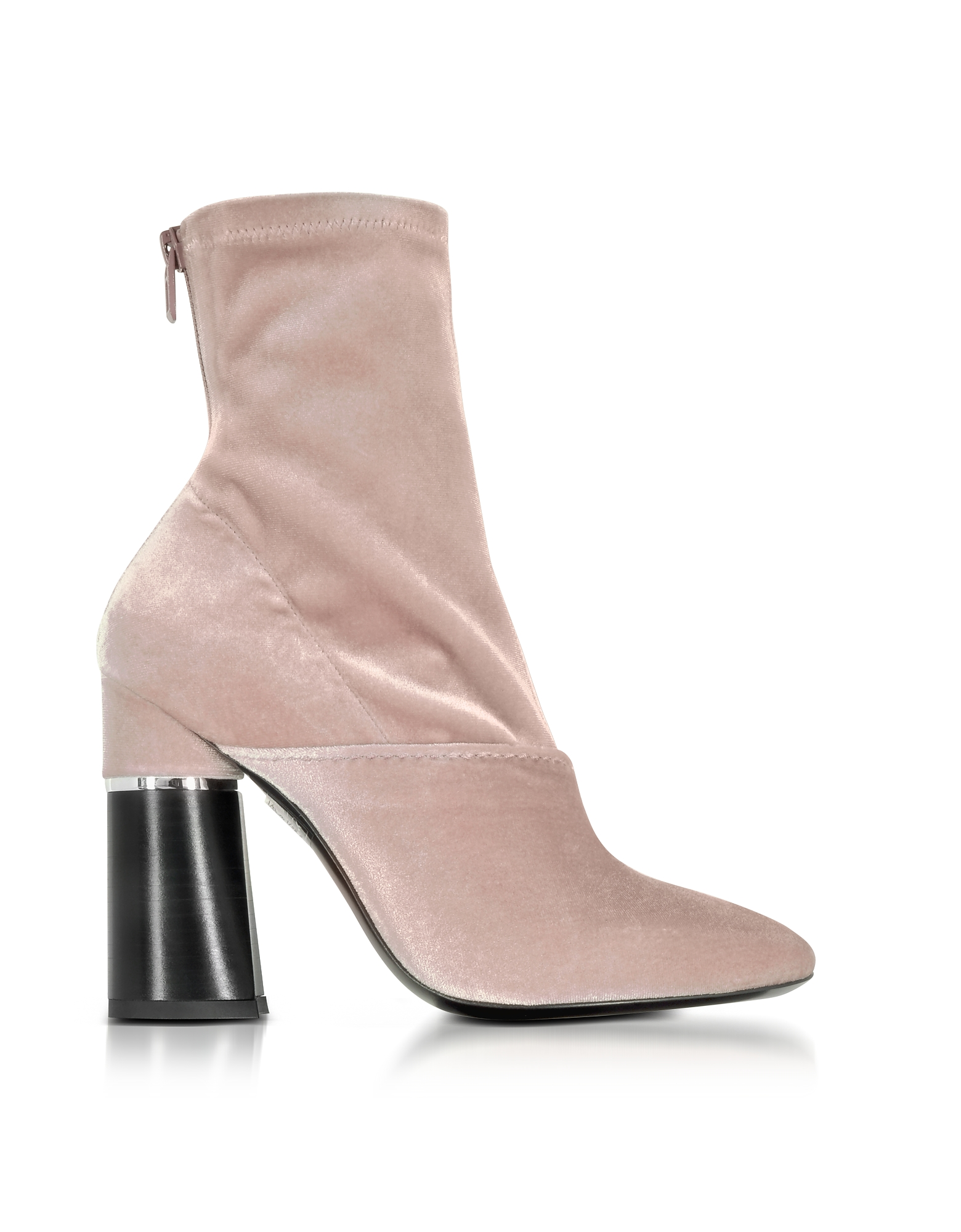 3.1 Phillip Lim Kyoto Blush Velvet Stretch High Heel Ankle Boots