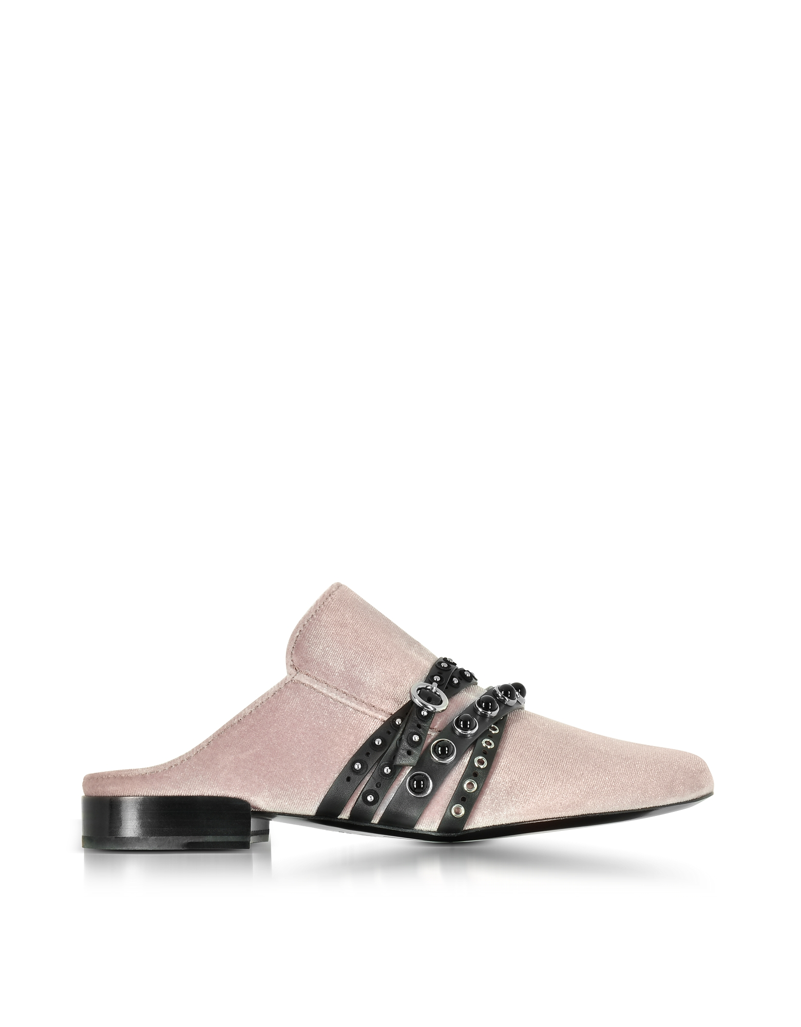 3.1 Phillip Lim Shoes, Louie Blush Velvet Flat Mules
