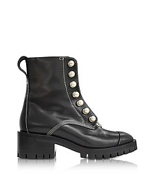 Hayett Black Leather Ankle Boots w/Pearls - 3.1 Phillip Lim
