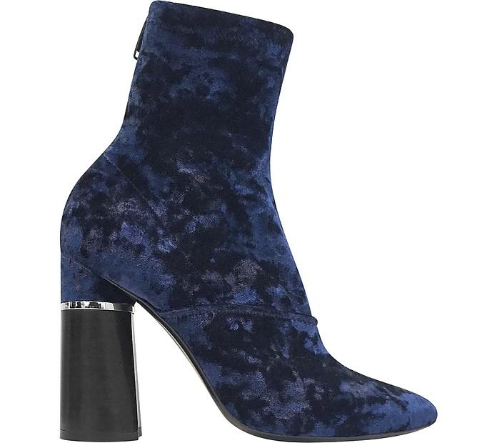 Kyoto Royal Blue Velvet Stretch Boot - 3.1 Phillip Lim