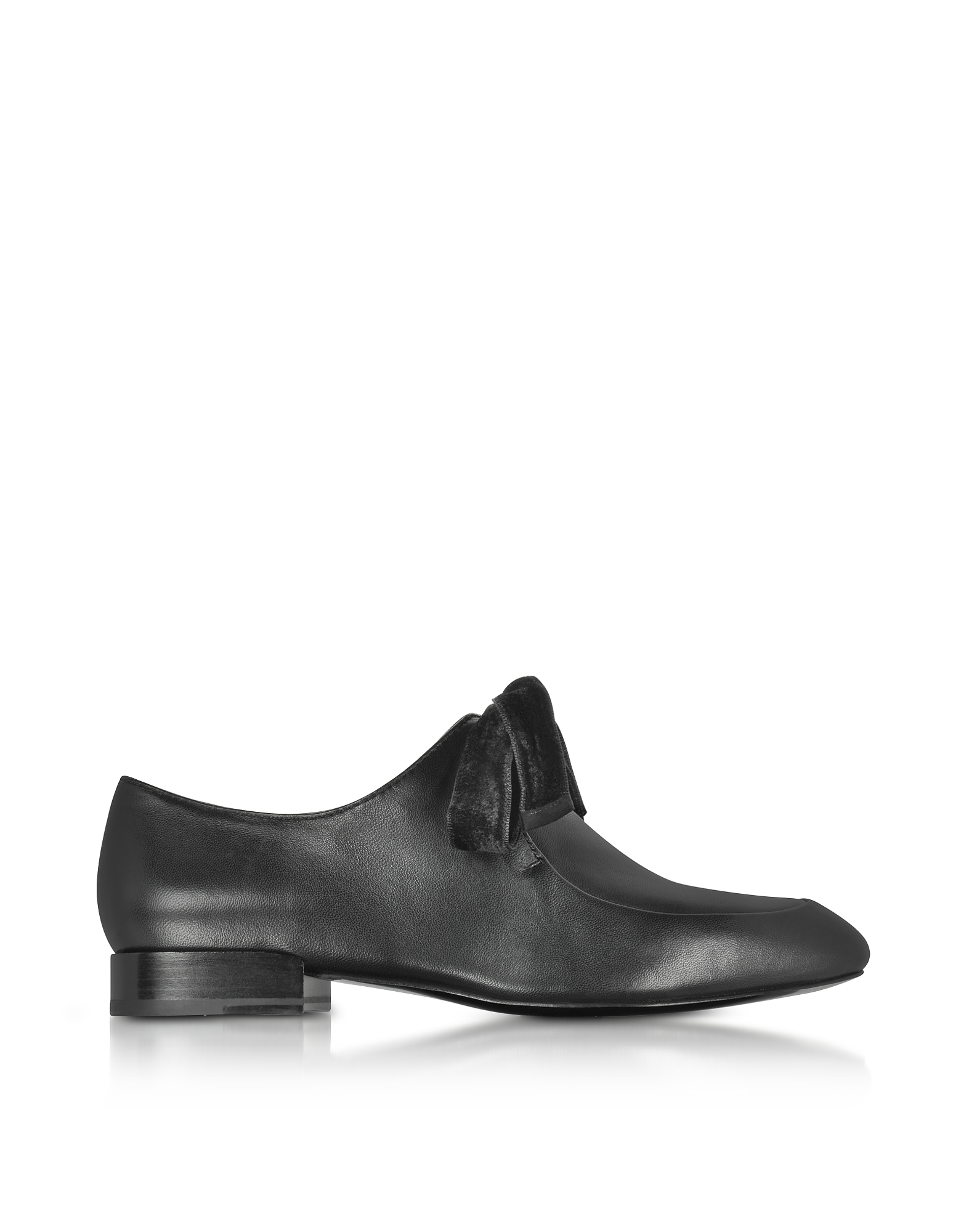 3.1 Phillip Lim Shoes, Black Leather Square Toe Lace Up Shoes