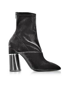 Kyoto Black Velvet Stretch High Heel Ankle Boots - 3.1 Phillip Lim