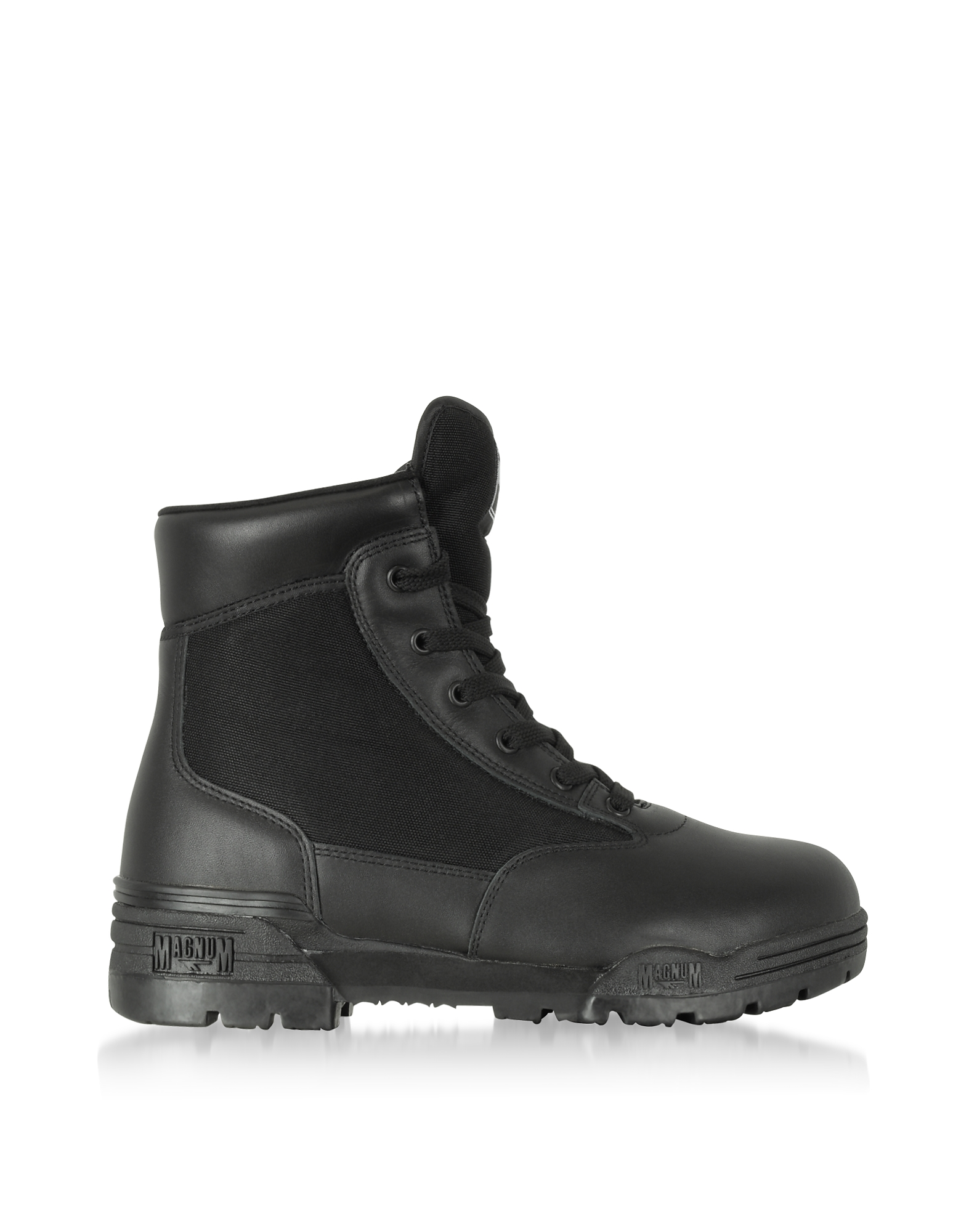 Hi-Tec Shoes, Hi-Tec Magnum 6 Classic Black Mesh and Leather Unisex Boots