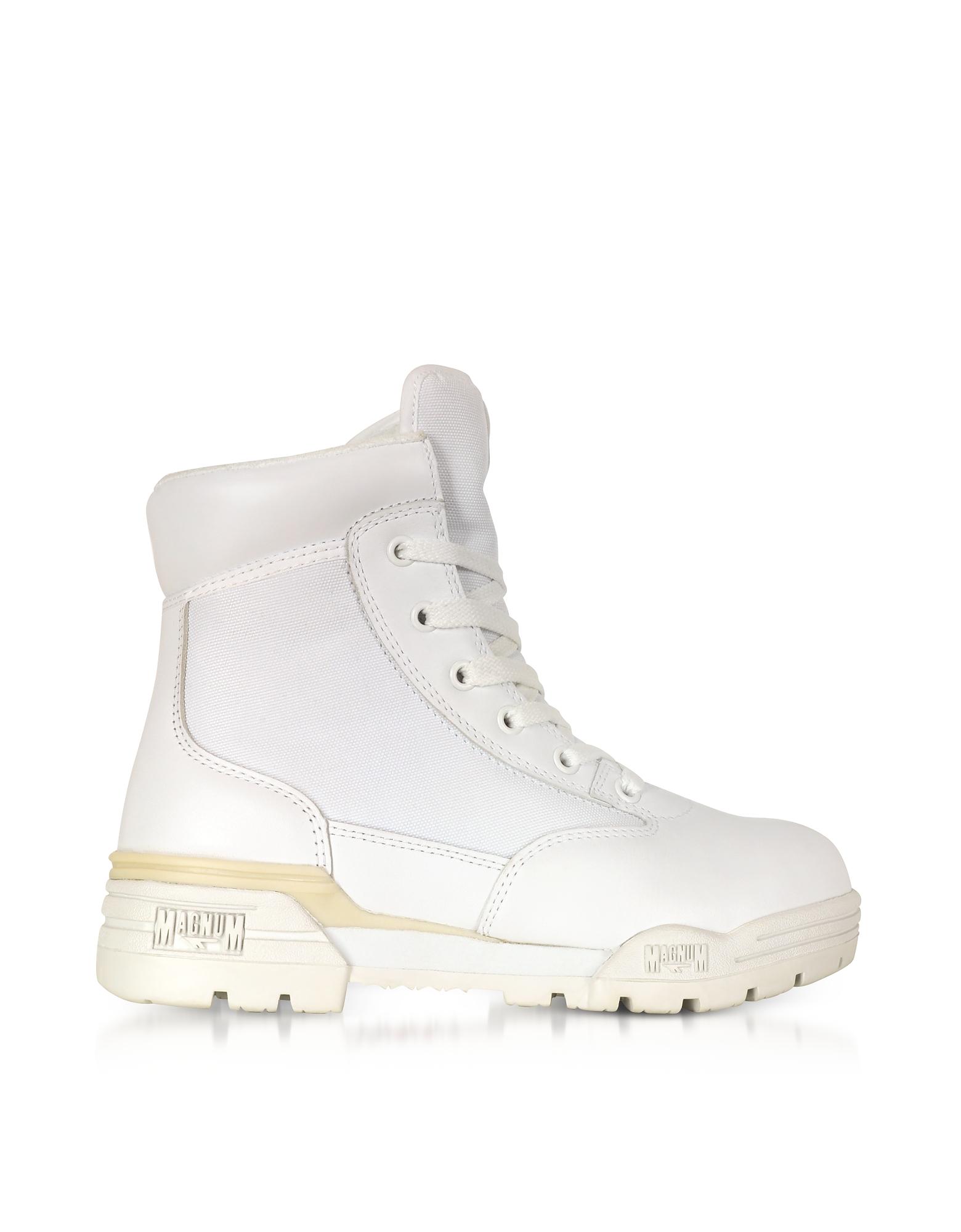 Image of Hi-Tec Designer Shoes, Hi-Tec Magnum 6 Classic Lux White Mesh and Leather Women's Boots