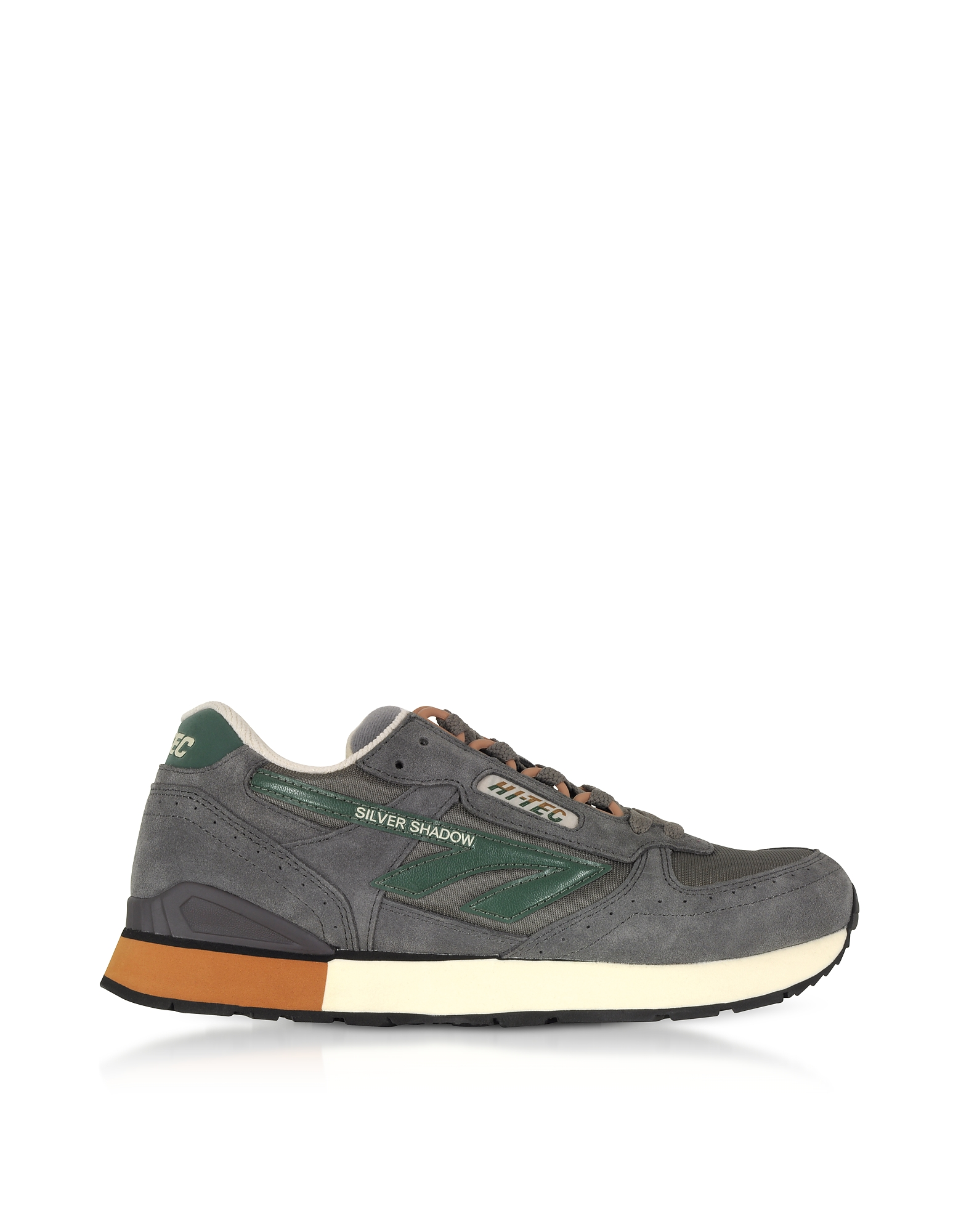 Hi-Tec Shoes, Silver Shadow Gull Grey/Laurel Wreath/Wood Mesh and Suede Men's Trainers