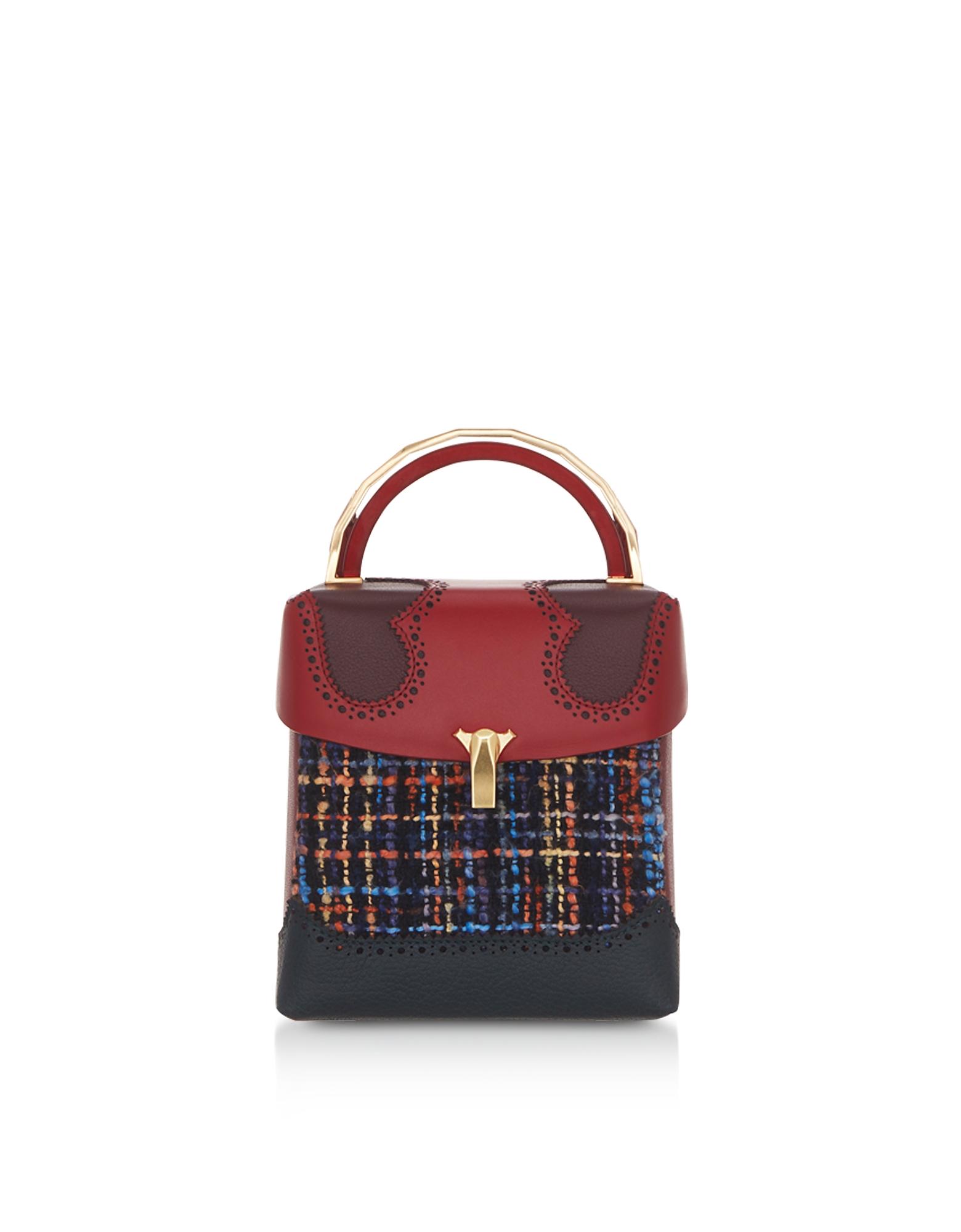 The Volon Designer Handbags, Tweed Great L Box Alice Bag