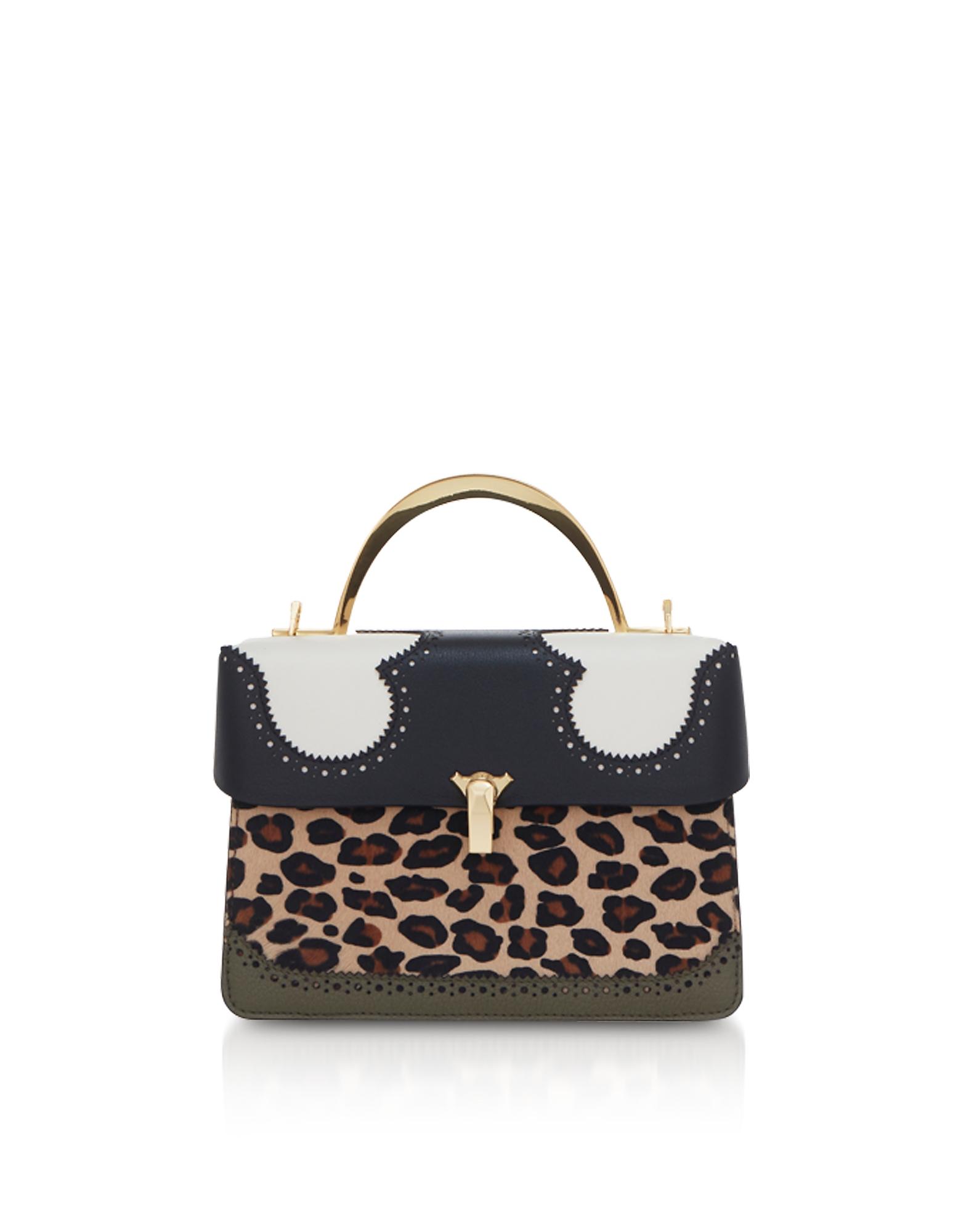 The Volon Designer Handbags, Leopard Print Data Alice 2 Bag