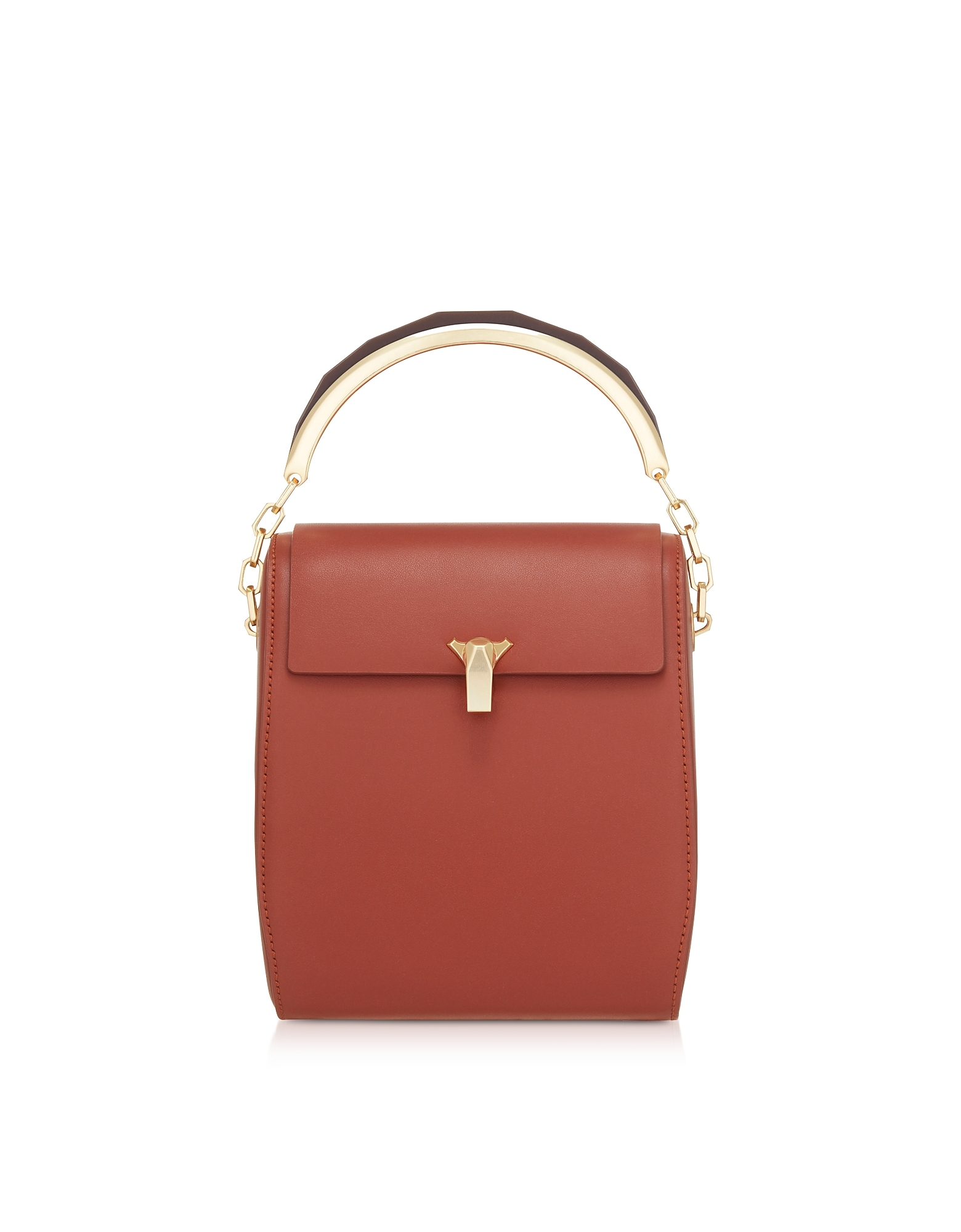 The Volon Designer Handbags, Tan Po Leather Box Bag