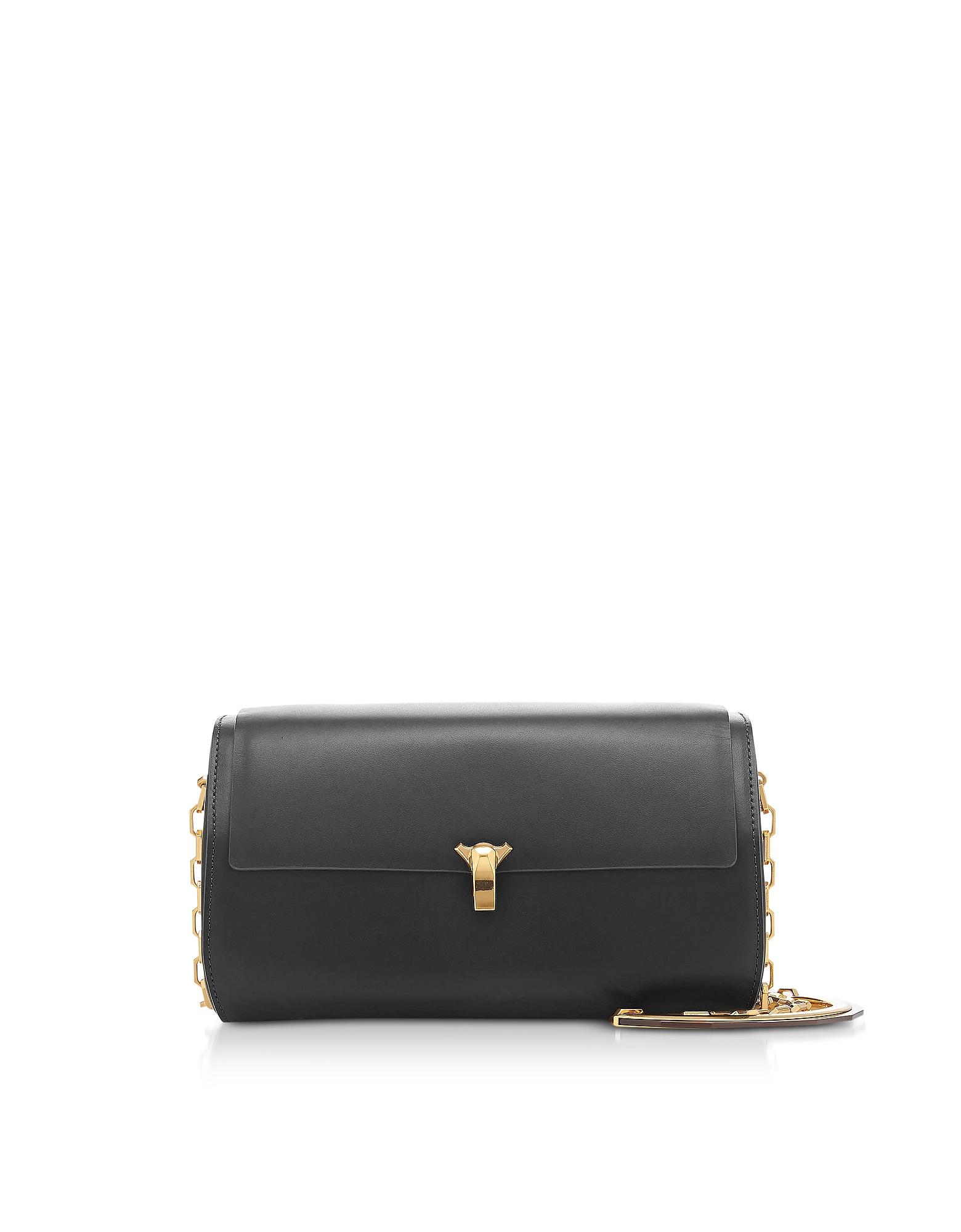 The Volon Designer Handbags, Black Po Trunk Bag