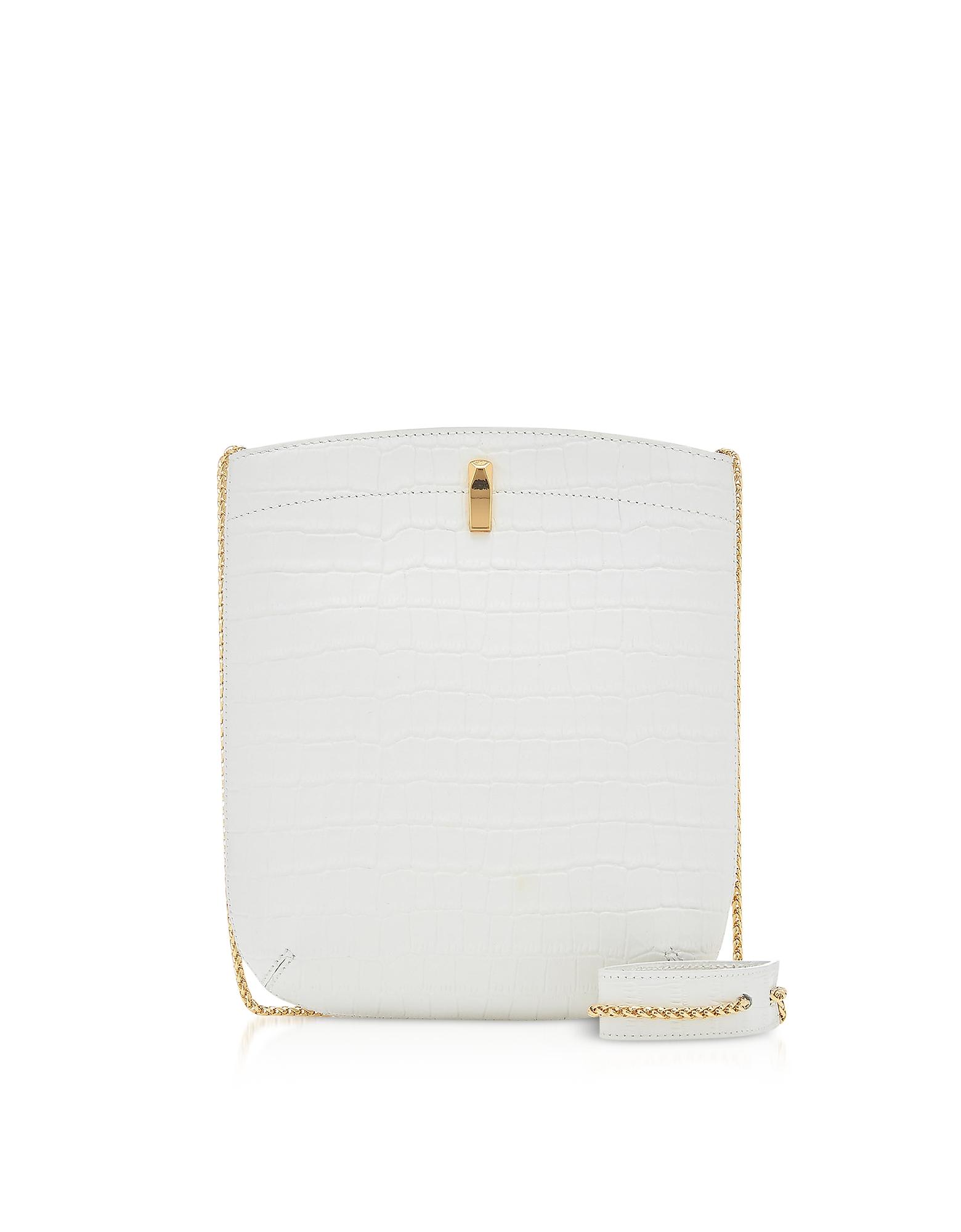 The Volon Designer Handbags, E.Z. Carry Croco-Embossed Leather Bag